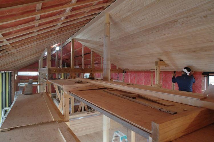 杉板天井、あともう少し...